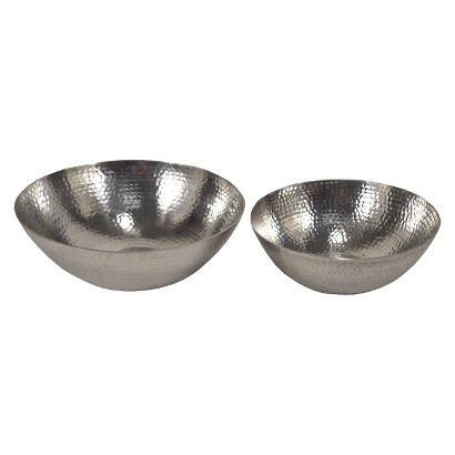 Threshold™ 2 Piece Hammered Bowl - Large/Small