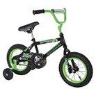 """Magna Boys Gravel Blaster Bike - Black/Green (12"""")"""