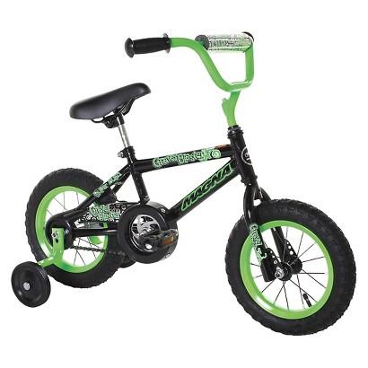"""12"""" Magna Boys Gravel Blaster Bike - Black/Green"""