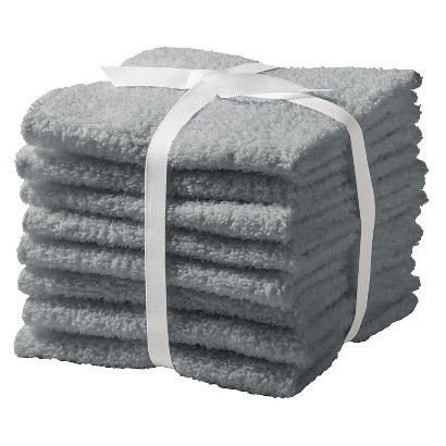 ROOM ESSENTIALS™ 8-PK. WASHCLOTH SET - FLAT GRAY