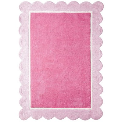 Circo™ Girls' Scalloped Border Accent Rug - Pink (4'x5'6 )