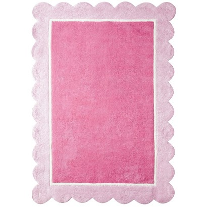 "Circo® Girl's Scalloped Border Accent Rug - Pink (4'x5'6"")"