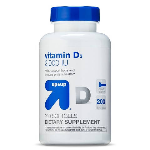 Up & Up Vitamin D 2000IU  - 200 Softgels