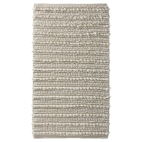 Thresholdtm chunky bath rugs 20x34quot target for Bathroom rugs at target