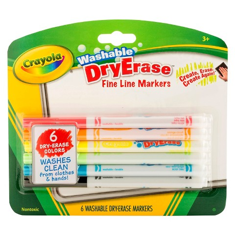 Crayola Washable Dry Erase Markers -6ct
