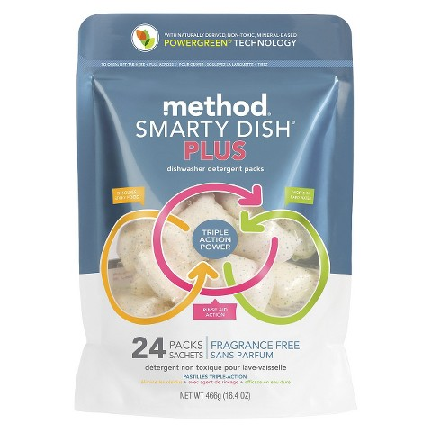 Method Smarty Dish Plus Free and Clear 24 Ct