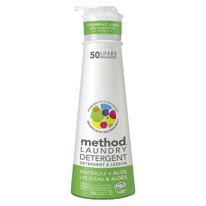 Method Water Lily High Efficiency Laundry Detergent 20 oz