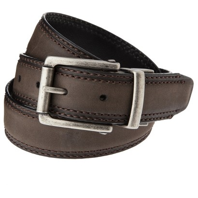 Dickies® Men's Reversible Center Buckle Belt - Brown/Black