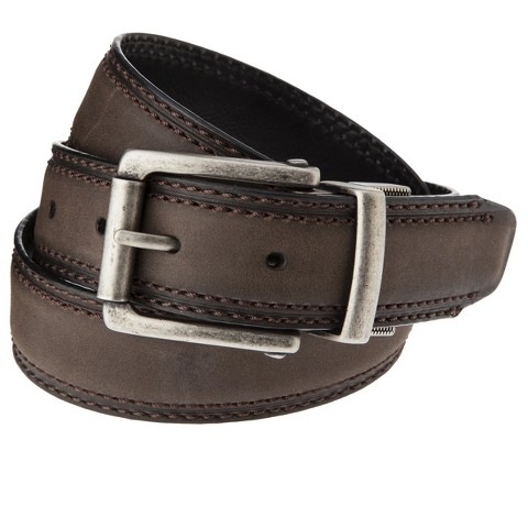 Dickies® - Men's Reversible Center Buckle Belt - Brown/Black