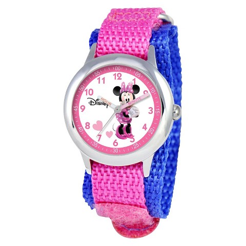 Disney Kids Minnie Mouse Watch - Pink