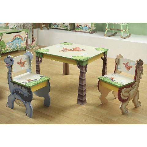 Teamson Kids -  Dinosaur Kingdom Table and 2 Chairs Set