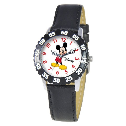 Disney Kids Mickey Mouse Watch - Black