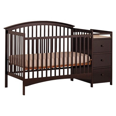Storkcraft Bradford 4-in-1 Fixed Convertible Crib Changer - Espresso