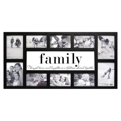10 Opening Family Frame Glass
