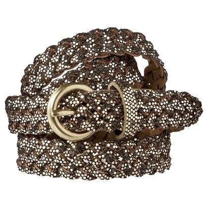 Merona® Glitter Braid Belt - Gold