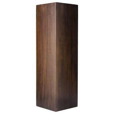 "Square Wood Floor Vase 22"""