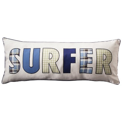 Castle Hill Surf Stripe Word Pillow