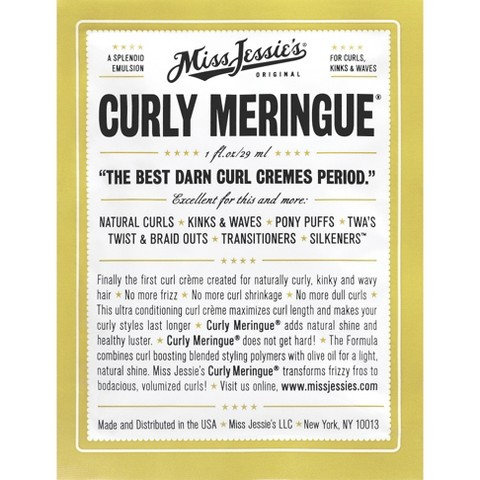 Miss Jessies Curly Meringue Packet -  1 oz