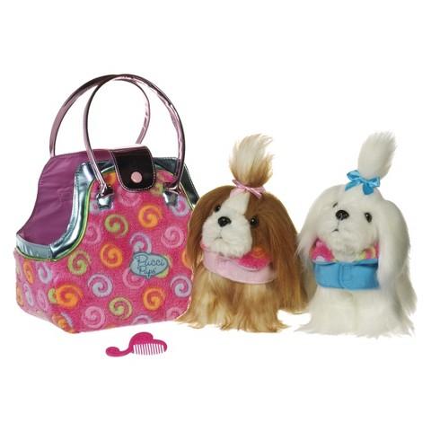 Swirly Plush Twin Bag &  Pups