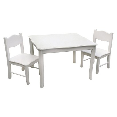 Guidecraft Classic Table & Chairs - White