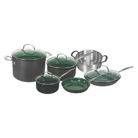 As Seen On TV Orgreenic 10 Piece Ceramic Interior Non-Stick Cookware Set
