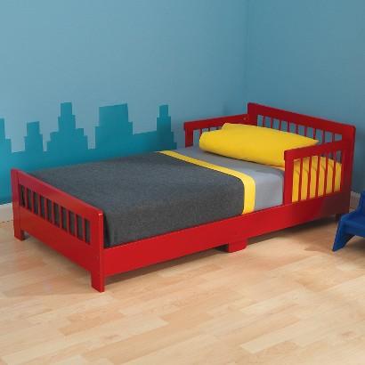 KidKraft Slatted Toddler Bed - Red