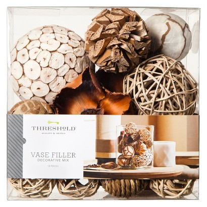 Threshold™ Decorative Mixed Vase Filler - White/Natural