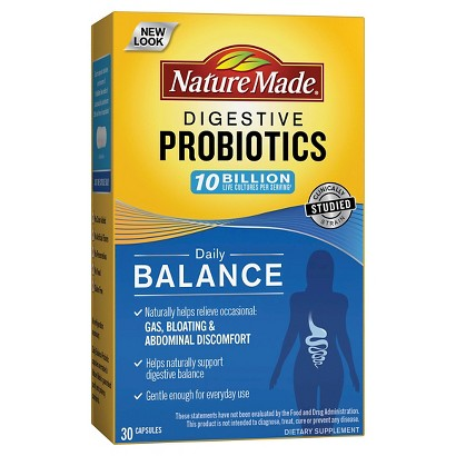 Nature Made Digestive Health Probiotic Capsules - 30 Count