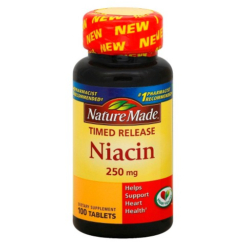 Nature Made Timed Release Niacin 250 mg Tablets - 100 Count