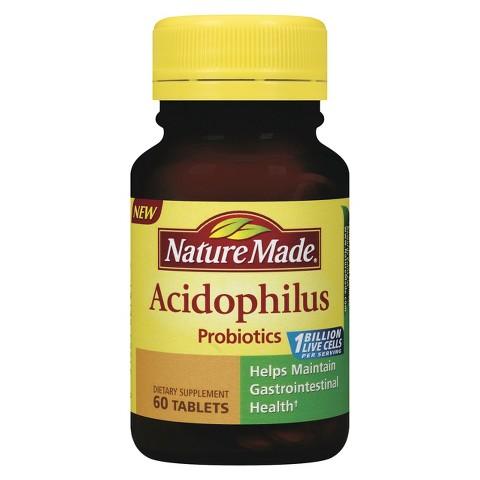 Nature Made Acidophilus Probiotics Tablets - 60 Count