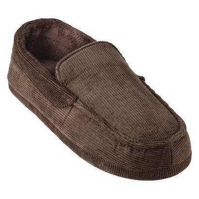 Totes® Elements® Men's Corduroy Moccasin Slippers - Brown