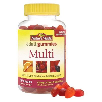 Nature Made Multi Orange, Cherry & Mixed Berry Adult Gummies - 90 Count