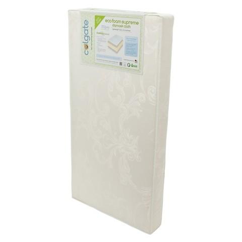 Colgate Eco-foam Crib Mattress - Ecru & Damask Cloth