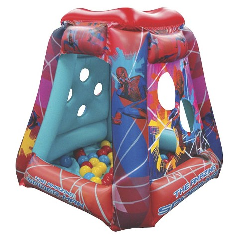 Marvel The Amazing Spider-Man Web Slinger Playland with 20 Balls - Multicolored