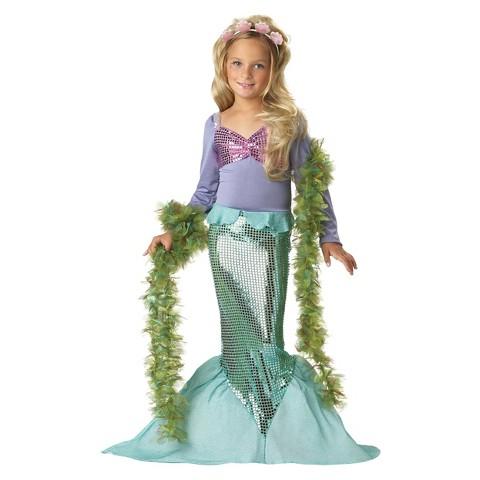 Girls' Lil' Mermaid Costume