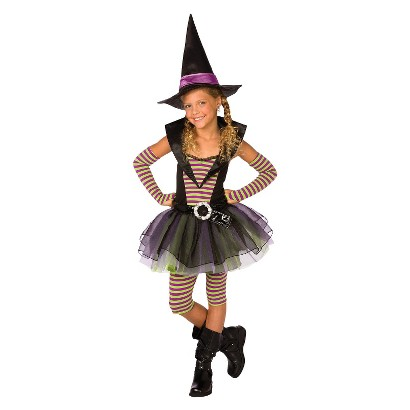 Girl's Striped Witch Costume