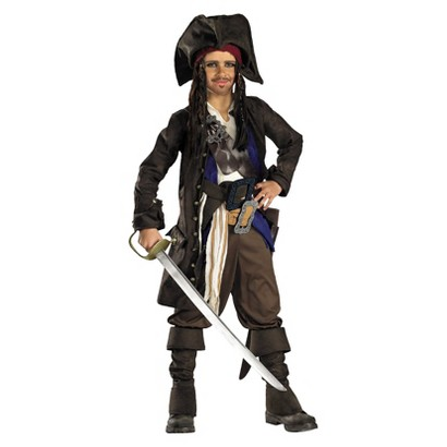 Boy's Pirates of the Caribbean - Captain Jack Sparrow Prestige Costume
