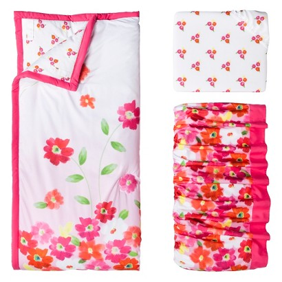 Water Lilies 3pc Baby Girl Bedding Set by Bananafish