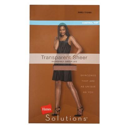 Hanes Solutions® Women's Transparent Sheer Control Top Hosiery