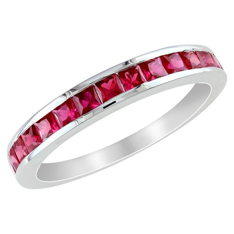 3/4 CT. T.W. Created Ruby Eternity Ring in Sterling Silver
