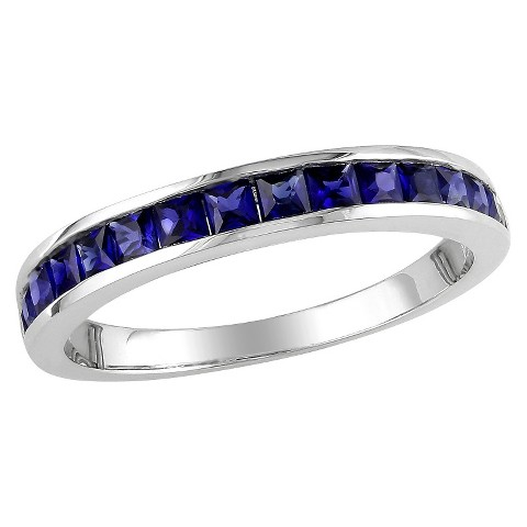 3/4 CT. T.W. Created Sapphire Eternity Ring in Sterling Silver