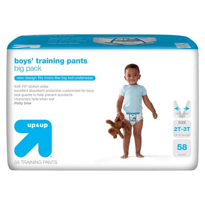Boys' Training Pants Big Pack - Size  2T-3T - 58 ct - up & up™