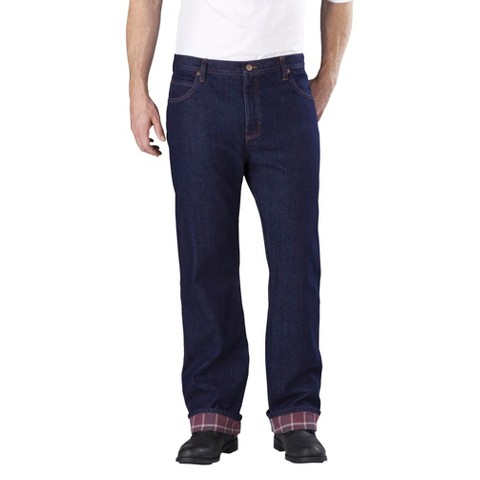 Dickies® Men's  Relaxed Straight Fit Denim Flannel-Lined 5-Pocket Jean
