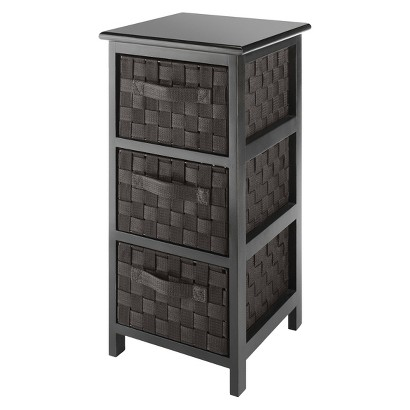 Whitmor Woven Strap 3 Drawer Chest