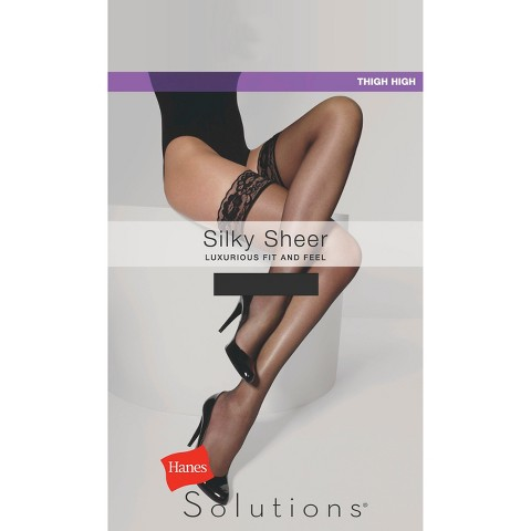 Hanes Solutions® Women's Silky Sheer Thigh Highs