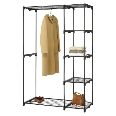 Whitmor Double Rod Freestanding Closet - Black