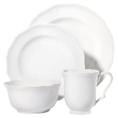 Threshold™ 16 Piece Scalloped Dinnerware Set - White