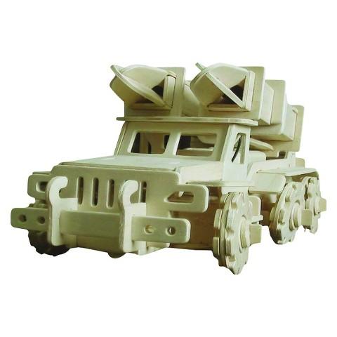 Robotime 3D Wooden Robotic Puzzle Missile Transport