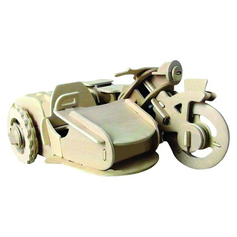 Robotime 3D Wooden Robotic Puzzle Motorcycle sidecar