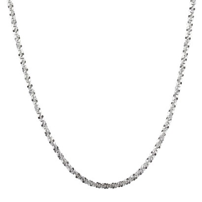 Sterling Silver Rolo Chain Rope Necklace
